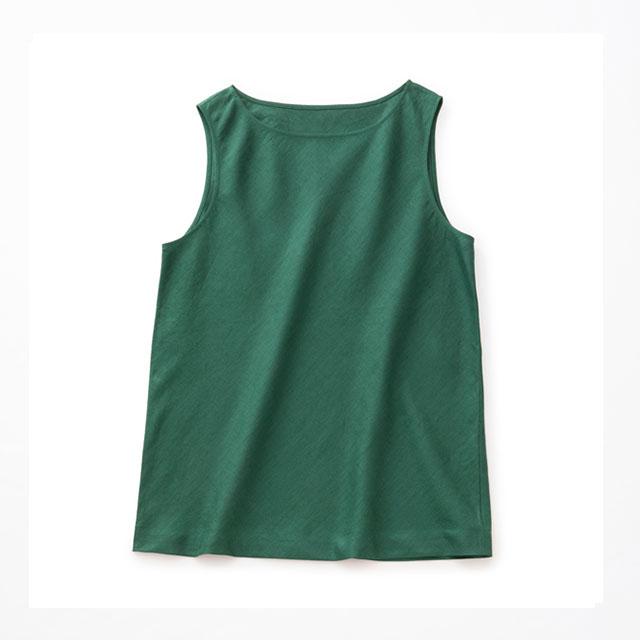 麻のサマーノースリー緑