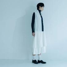 麻絹オーガンジー 羽織りドレス 白