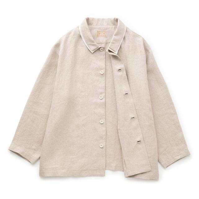 手織り麻を使った重ねのジャケット