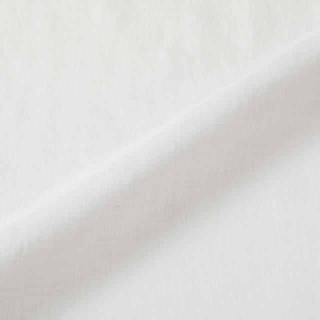 手織り麻を使った重ねのブラウス