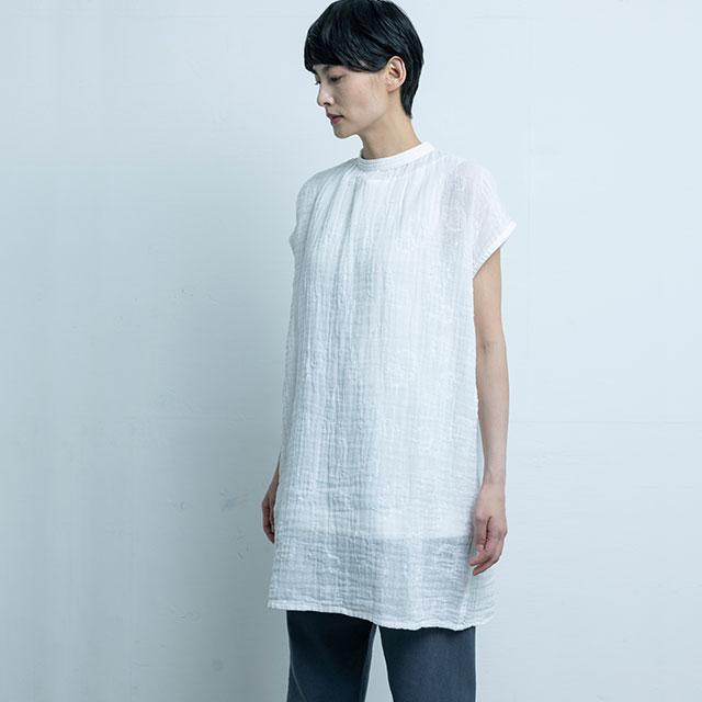 かや織×富山の刺繍 チュニック