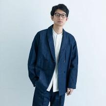 綿和紙デニムのジャケット