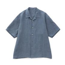 麻縞シャツ