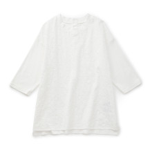【WEB限定】STAMP AND DIARY クルーネック7分袖プルオーバー