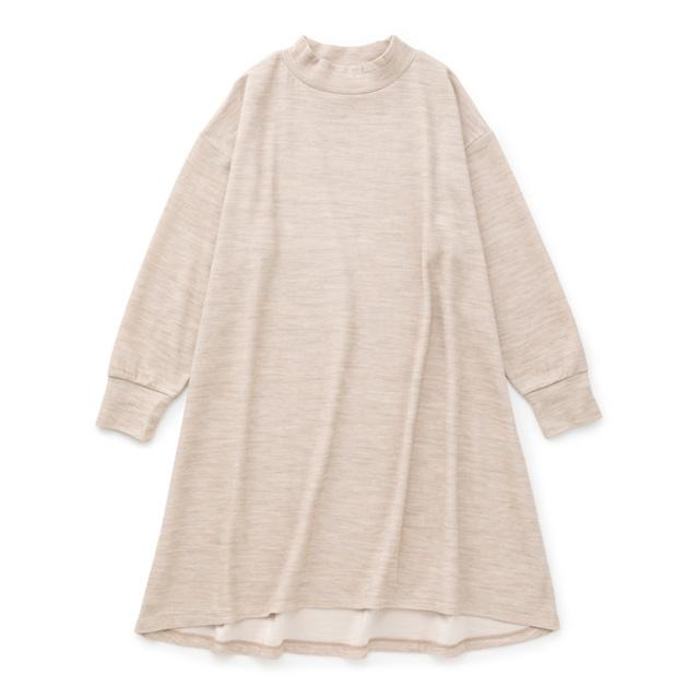 綿ウール接結のプルオーバーとチュニック濃紺