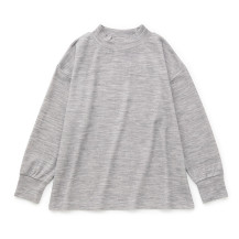 綿ウール接結のプルオーバー