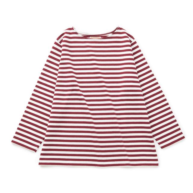 空紡糸のワイドバスクシャツあずき