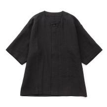 麻格子のシャツ