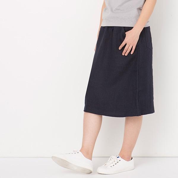 リネンデニムのスカート