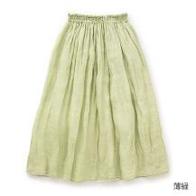 蚊帳生地で作ったスカート(薄緑)
