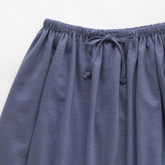綿麻ドレープスカート