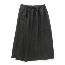 麻ウールの巻きスカート
