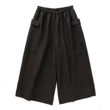 高密度に織った麻のワイドパンツ【夏セール2020】