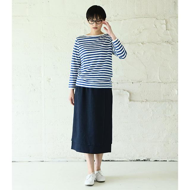手織り麻を使った重ねスカート