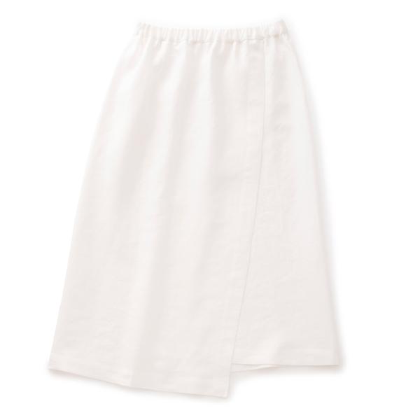 麻のサマースカート白