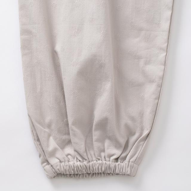 ドビー織の水玉もんぺパンツ