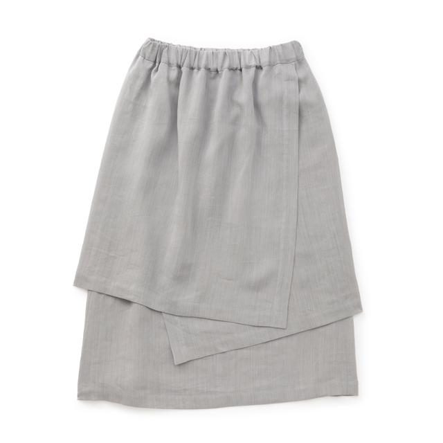 麻の紙布 かさねスカート薄墨