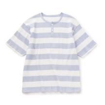 高島ちぢみの寝巻きTシャツ メンズ