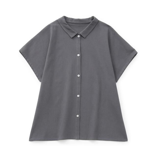 高島ちぢみのフリーシャツ白