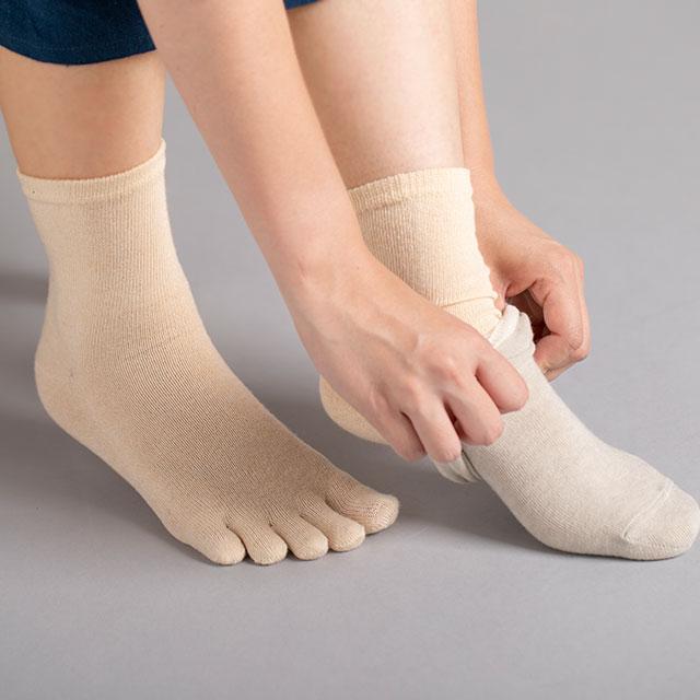 冷えとり絹綿靴下セット