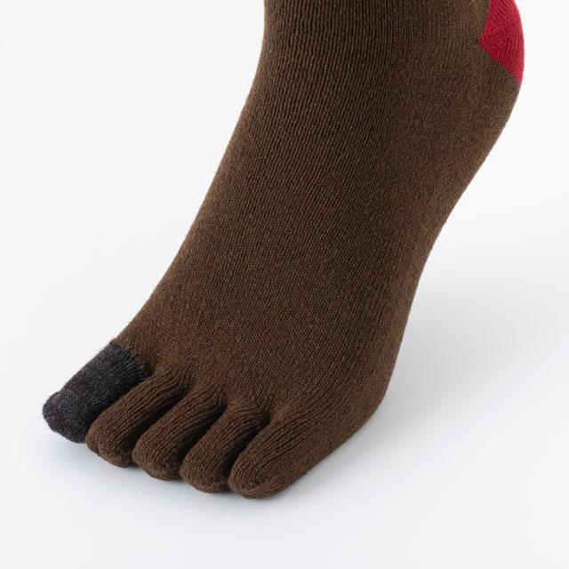 あたたかな5本指靴下 メンズ