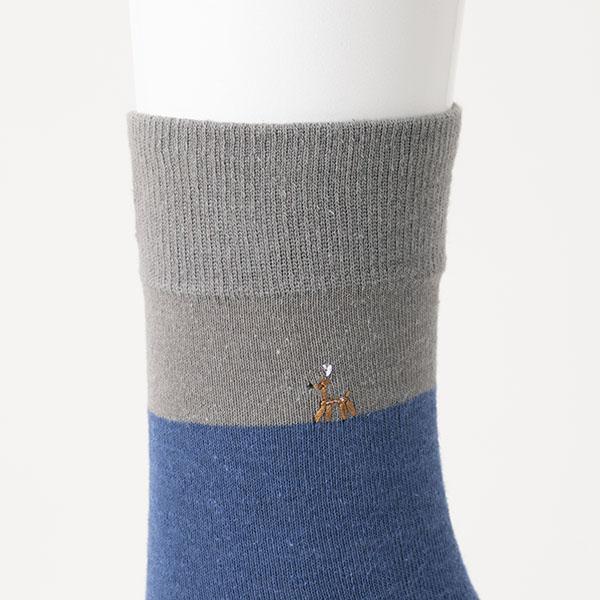 鹿のお父さん 綿麻靴下