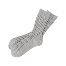 HAAG WIDE RIB SOCKS(22-24 / GRAY)
