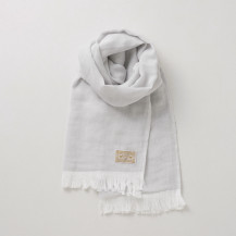 「汗取りにもなる」今治で織ったタオルマフラー