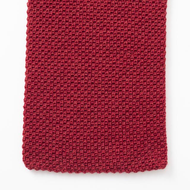 鹿の子編みのミニマフラー
