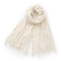 携帯しやすい強撚糸のかや織ストール