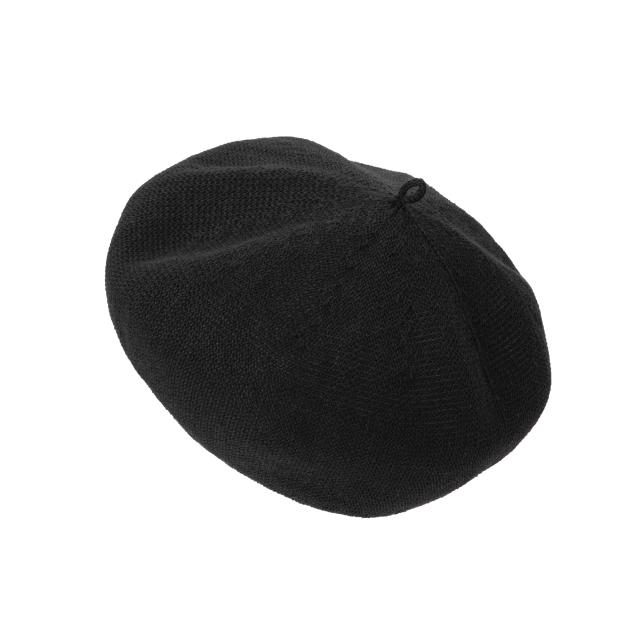 麻ニットのベレー帽