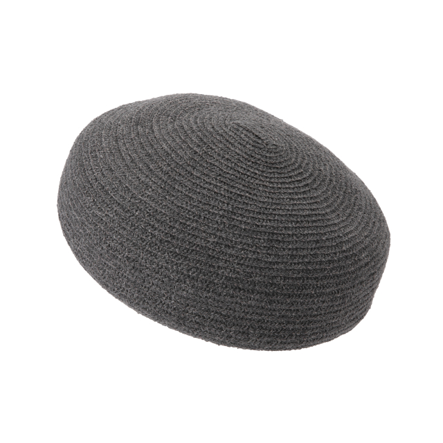 麻ブレードのベレー帽