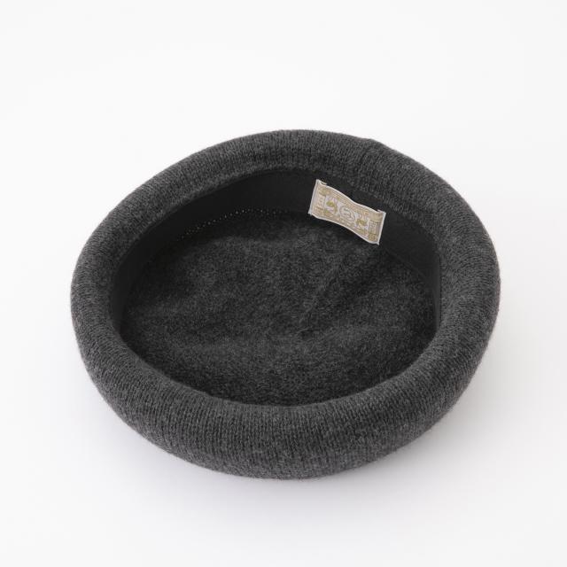 ウール麻ニットのベレー帽
