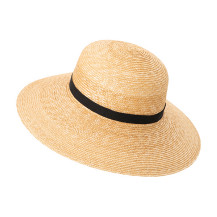 麦藁帽子 かや織の収納袋付き
