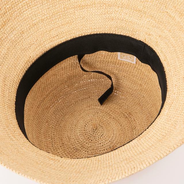 畳めるラフィアの帽子