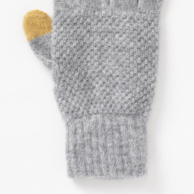 鹿の子編みの手袋