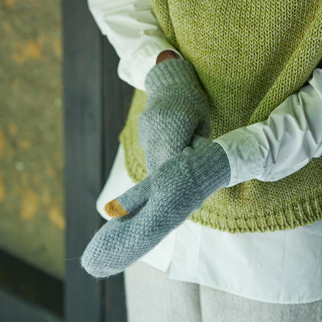 鹿の子編みのミトン