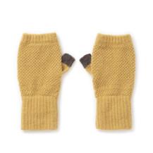 鹿の子編みのアームウォーマー