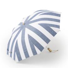 綿麻しましま折り畳み傘