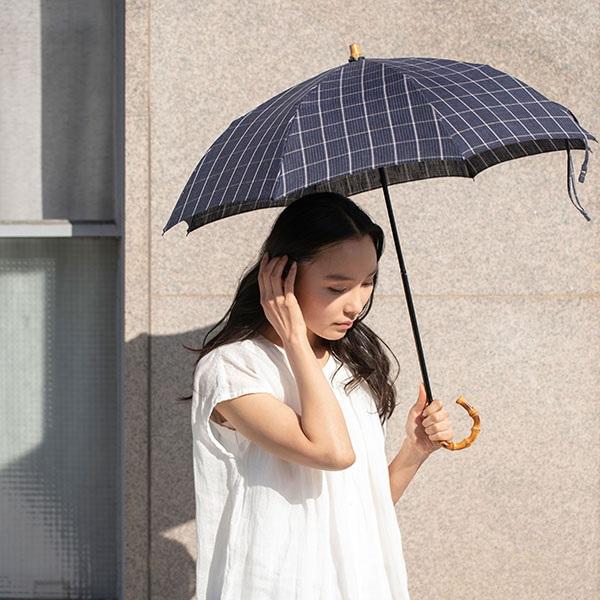 スペック染リネンの折畳み日傘