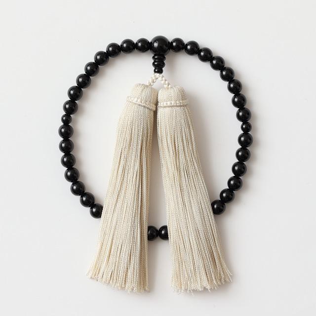 女性用 ブラックオニキス/房 象牙色