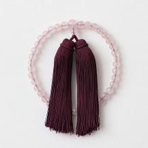【WEB限定】ひいらぎ 念珠 女性用 紅石英/房紫紺
