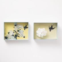 葛飾北斎/紫陽花
