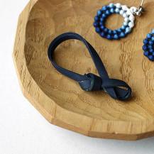 本藍染竹のブローチ