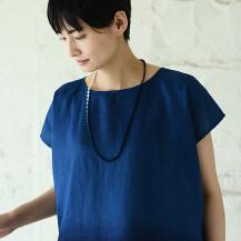 本藍染刺繍ネックレス