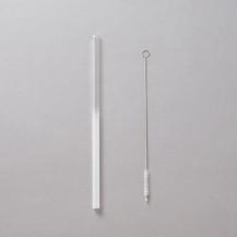 アトリエiriser ガラスストロー グラデーション 透明/磨りガラス 20cm