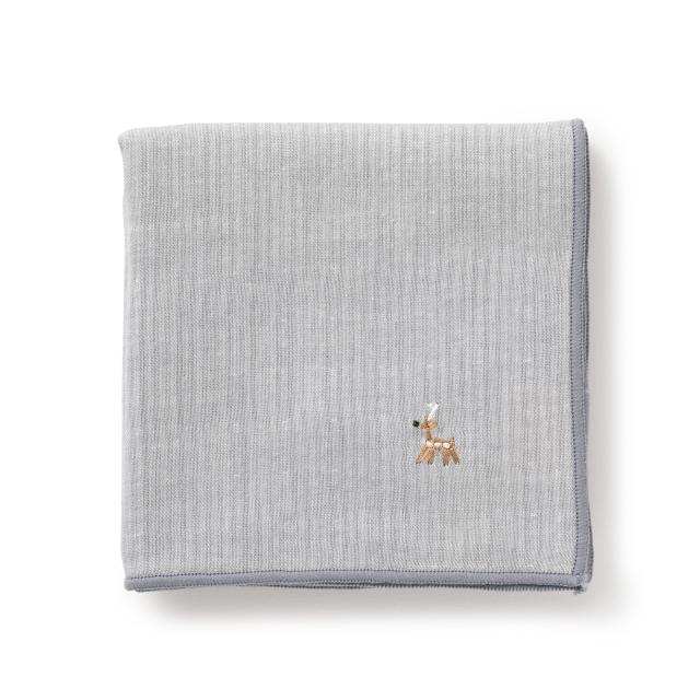 鹿の家族縞のガーゼハンカチ【ポイント6倍】
