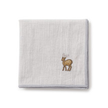 鹿の刺繍ハンカチ