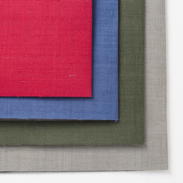 手織り麻の文庫本カバー