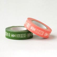 マスキングテープ こけし 桃緑【会員限定蔵出市対象商品】